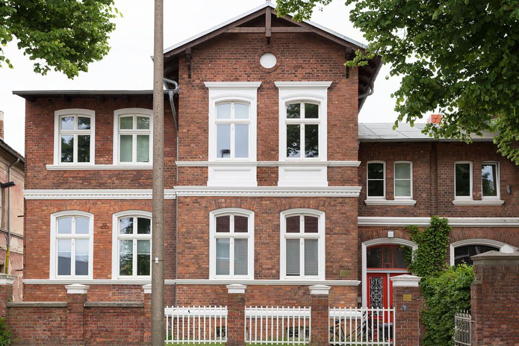 Sanierung eines Brandschaden in Greifswald, Stralsunder Straße  mit Rekonstruktion des historischen Dachstuhl